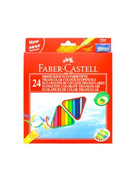 Matite Colorate Eco Faber Castell - 3 mm - 120524 (Assortiti Conf. 24)