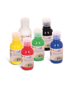 Colore ad Acqua per Tessuti Textil Primo Morocolor - 125 ml - 410TX125ASS (Assortiti Conf. 6)