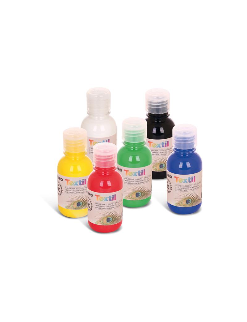 Colore ad Acqua per Tessuti Textil Primo Morocolor - 125 ml - 410TX125ASS (Assortiti Conf. 6)