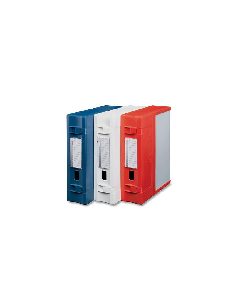 Scatola Archivio Combi Box E600 Fellowes - Dorso 9 - 29,8x36,2 cm (Rosso)