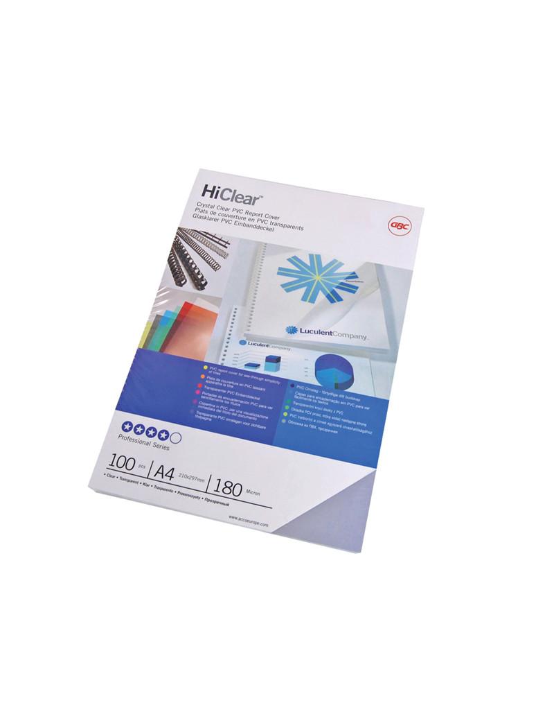 Copertine in PVC per Rilegatura Hi-Clear GBC - A4 - 150 Micron - CE011580E (Trasparente Conf. 100)