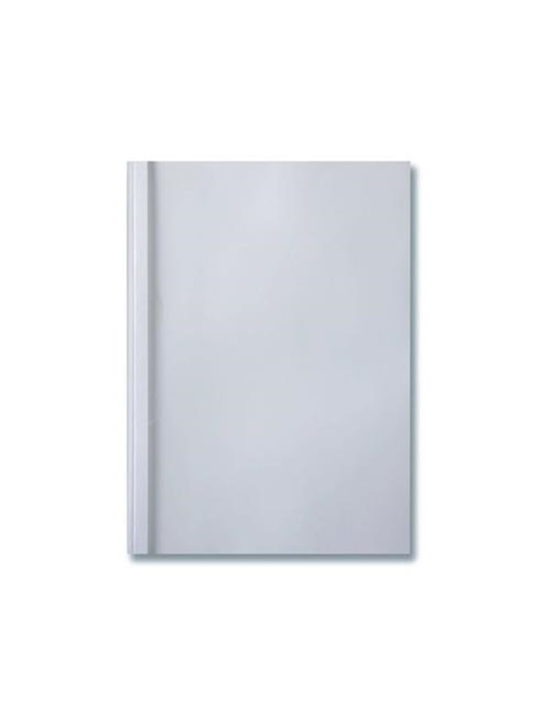 Cartelline Termiche per Rilegatura Standard GBC - Liscia - 40 mm - IB370137 (Trasparente e Bianco Conf. 50)