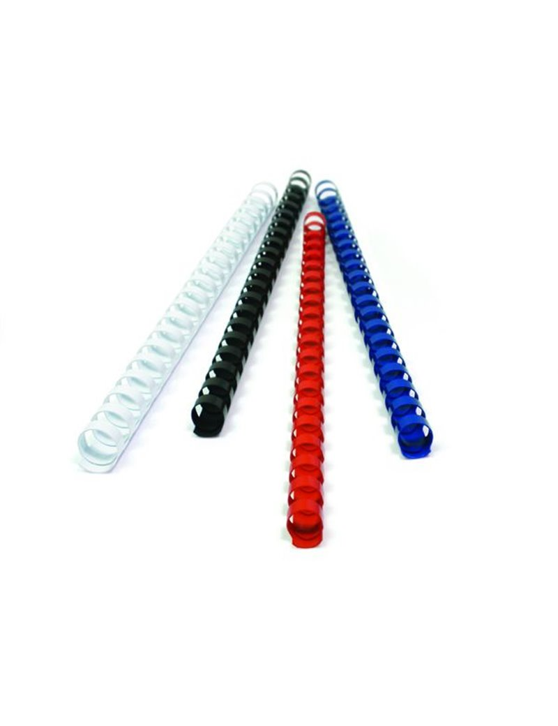 Dorsini Spiralati Plastici GBC - 25 mm - 225 Fogli - 4028202 (Bianco Conf. 50)
