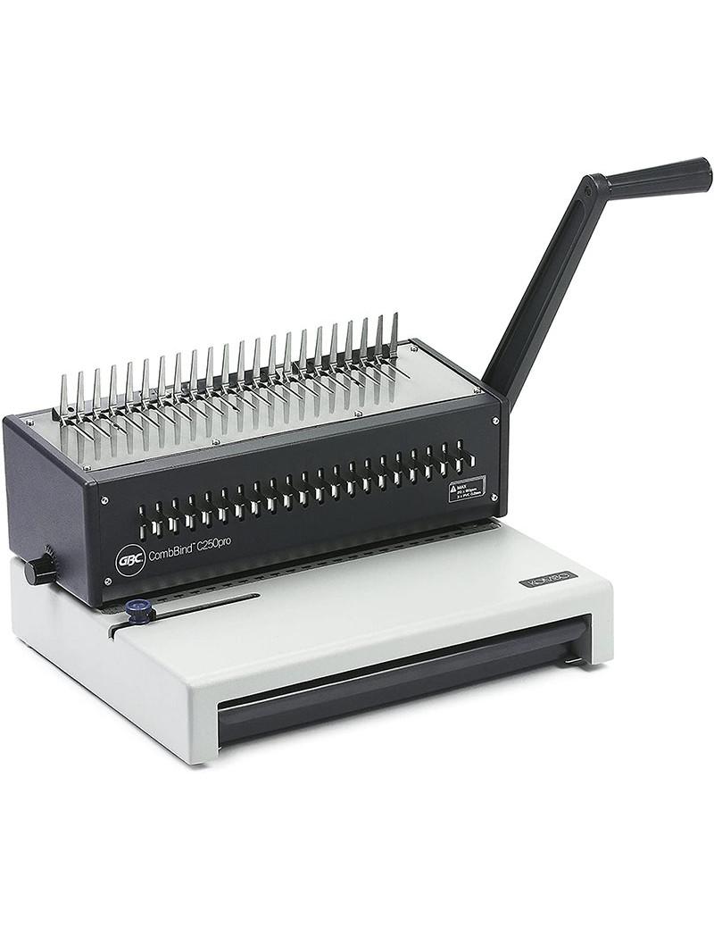 Rilegatrice a Dorsi Metallici CombBind 250 Pro GBC - 140 Fogli - IB271403 (Nero e Bianco)
