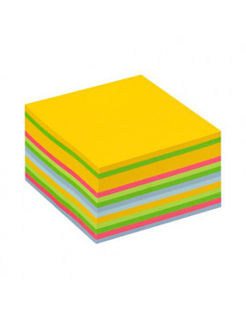 Cubo Post-it 3M - 76x76 mm (Giallo Neon, Verde Ultra, Verde, Rosa Ultra, Blu Ultra, Blu)