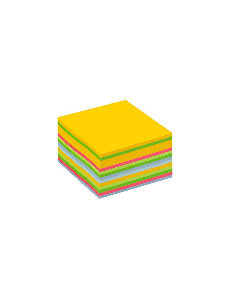 Cubo Post-it 3M - 76x76 mm (Giallo Neon, Verde Ultra, Verde, Rosa Ultra, Blu Ultra, Blu)