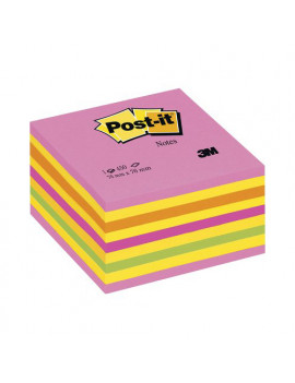 Cubo Post-it 3M - 76x76 mm - 82466 (Rosa Neon, Giallo Neon, Arancio Neon, Rosa Ultra, Verde Neon)