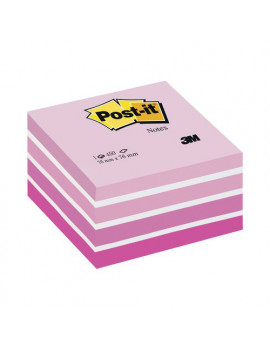 Cubo Post-it 3M - 76x76 mm (Rosa Pastello, Rosa Corallo, Rosa Neon, Rosa Ultra, Bianco)