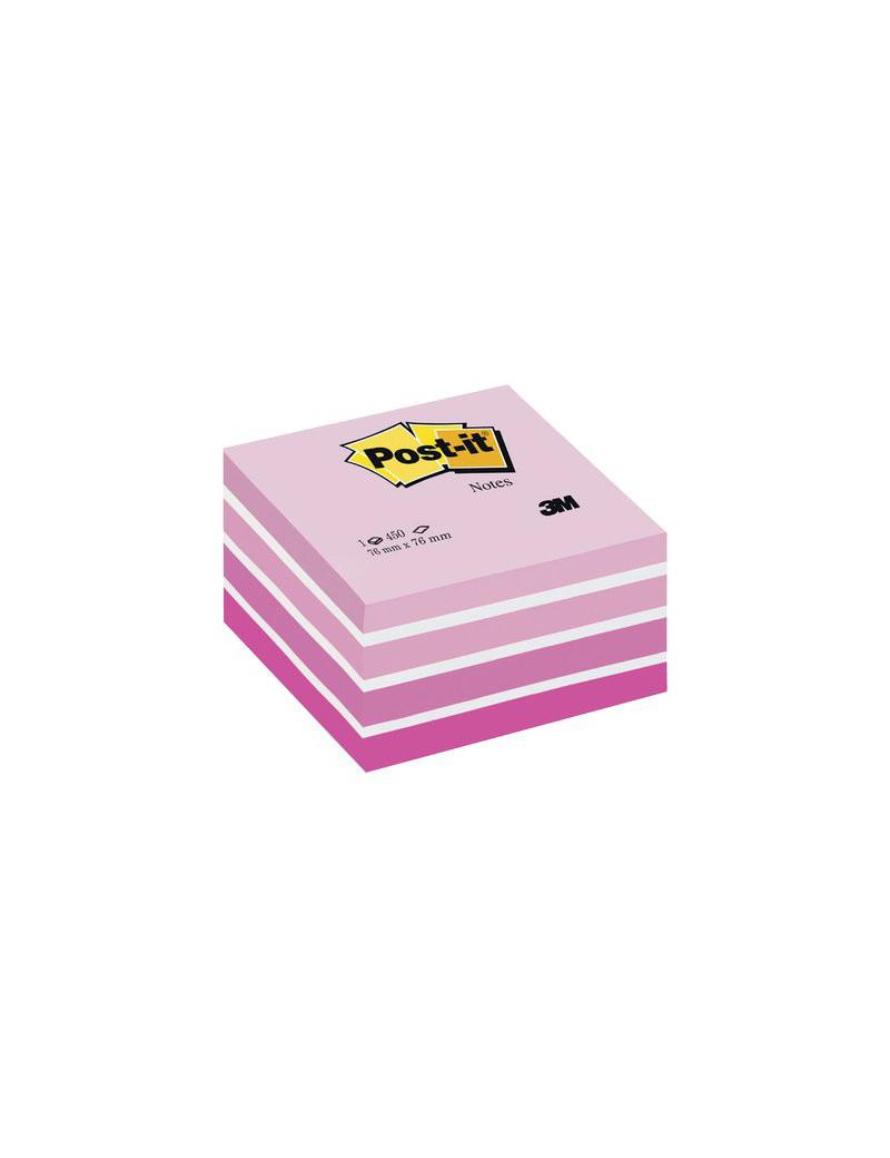 Cubo Post-it 3M - 76x76 mm (Rosa Pastello, Rosa Corallo, Rosa Neon, Rosa Ultra, Bianco)