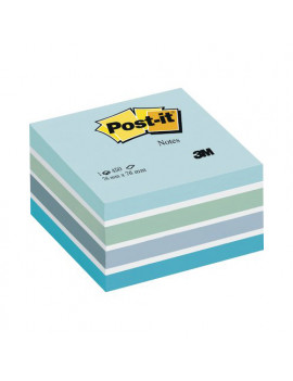 Cubo Post-it 3M - 76x76 mm (Azzurro Pastello, Blu Smeraldo, Blu Cielo, Blu Ultra, Bianco)