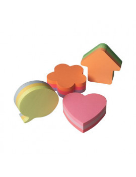 Cubo Sagomato Post-it 3M (Cuore Assortiti)