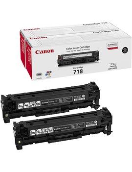 Toner Originale Canon 718bk 2662B017 (Nero 3400 pagine Conf. 2)