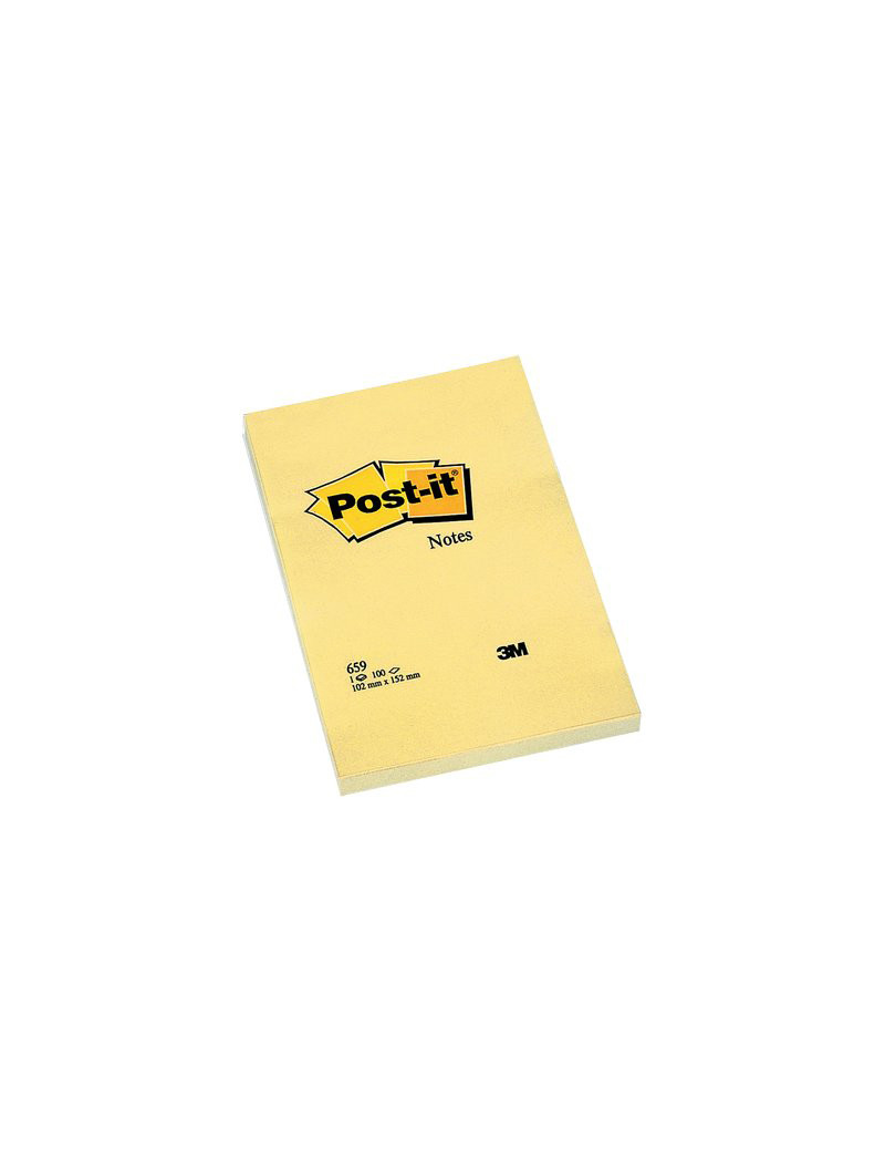 Post-it Large Note 659 3M - 102x152 mm - 94293 (Giallo Canary)