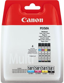 Multipack Cartucce Originali Canon CLI-581multi 2103C004 (Nero e Colori Conf. 4)