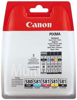 Multipack Cartucce Originali Canon PGI-580 CLI-581multi 2078C005 (Nero e Colori Conf. 5)