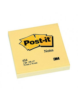 Post-it Note 654 3M - 76x76 mm - 23799 (Giallo Canary a Righe Conf. 12)