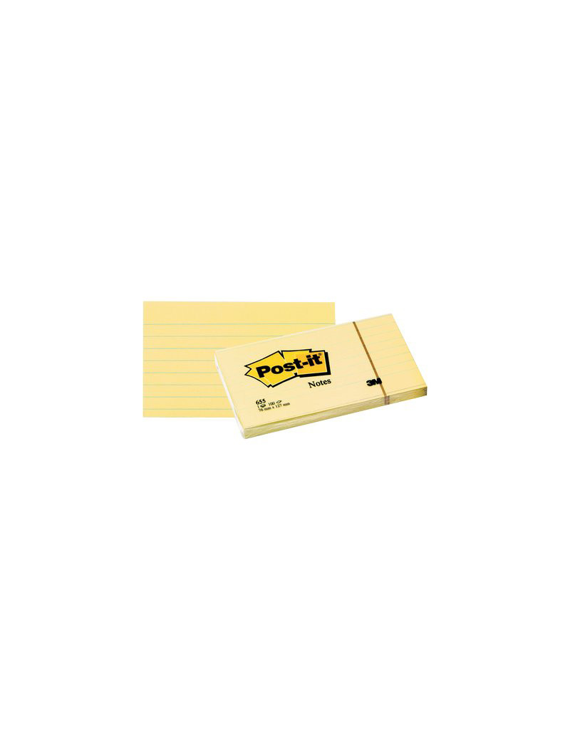 Post-it Note 635 3M - 76x127 mm - 51078 (Giallo Canary a Righe Conf. 12)