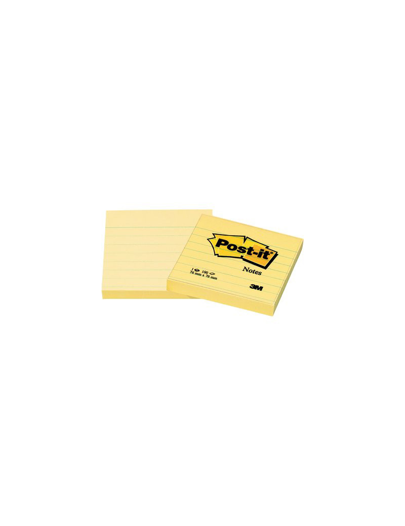 Post-it Note 630-6PK 3M - 76x76 mm - 50848 (Giallo Canary a Righe Conf. 6)