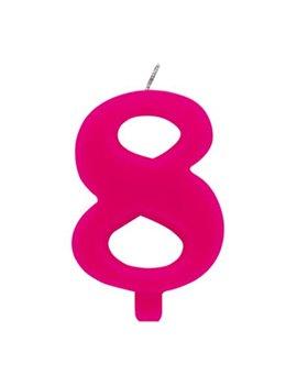 Candelina per Torta - Numero 8 (Rosa)