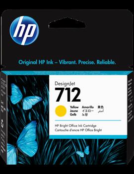 Cartuccia Originale HP 3ED69A 712 (Giallo 29 ml)