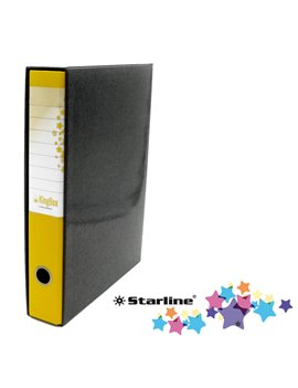 Registratore Kingbox Starline - Protocollo - Dorso 5 - 28,5x35,5 cm - RXP5GI (Giallo)