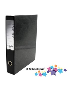 Registratore Kingbox Starline - Protocollo - Dorso 5 - 28,5x35,5 cm - RXP5NE (Nero)