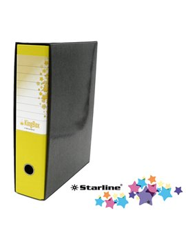 Registratore Kingbox Starline - Protocollo - Dorso 8 - 28,5x35,5 cm - RXP8GI (Giallo)