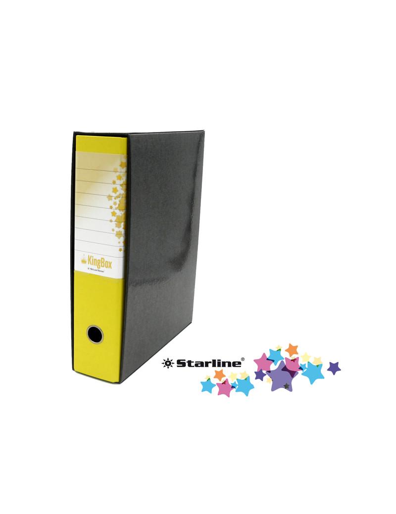 Registratore Kingbox Starline - Protocollo - Dorso 8 - 28,5x35,5 cm - RXP8GI (Giallo)