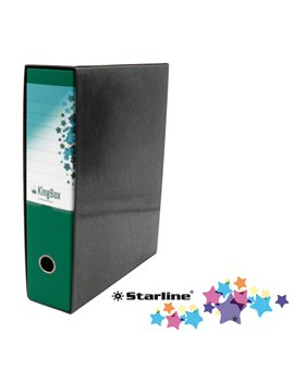 Registratore Kingbox Starline - Protocollo - Dorso 8 - 28,5x35,5 cm - RXP8VE (Verde)