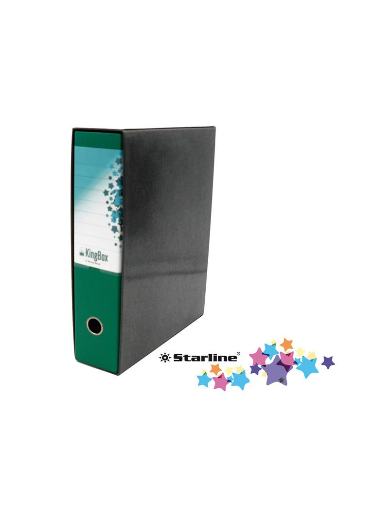 Registratore Kingbox Starline - Protocollo - Dorso 8 - 28,5x35,5 cm - RXP8VE (Verde)