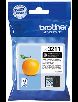 Cartuccia Originale Brother LC-3211BK (Nero 200 pagine)