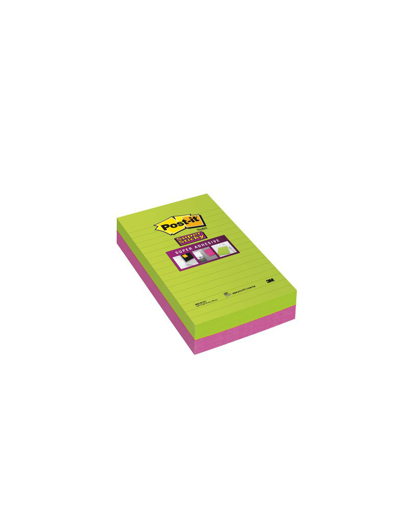 Post-it Super Sticky Ultracolor To Do List 845-4SUCC 3M - 125x200 mm - 73311 (Lime e Rosa Neon Conf. 4)