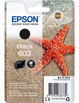 Cartuccia Originale Epson T03U140 603 (Nero 150 pagine)