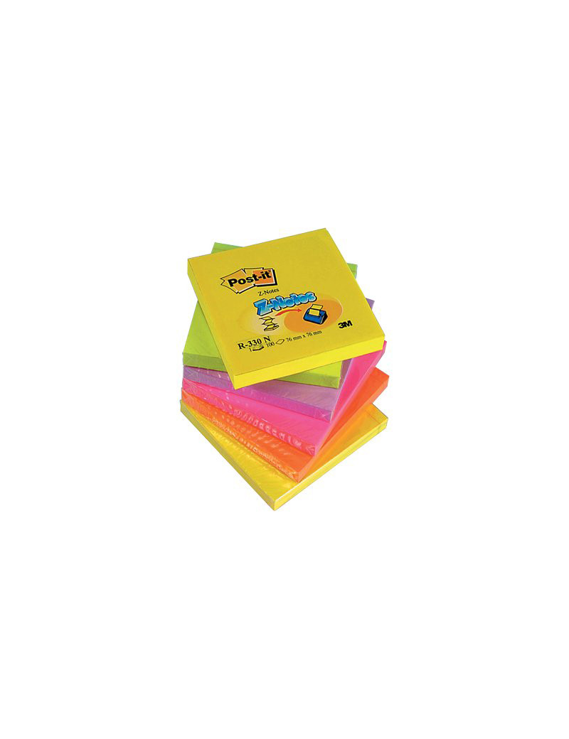 Ricariche Post-it Z-Note R330-NR 3M - 76x76 mm - 8027 (Giallo Verde Lilla Arancio e Rosa Conf. 6)