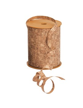 Nastro Bifacciale per Regali Woodly Bolis - 10 mm x 200 m - 51281022070 (Sughero)