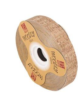 Nastro Bifacciale per Regali Woodly Bolis - 24 mm x 100 m - 51282421070 (Sughero)