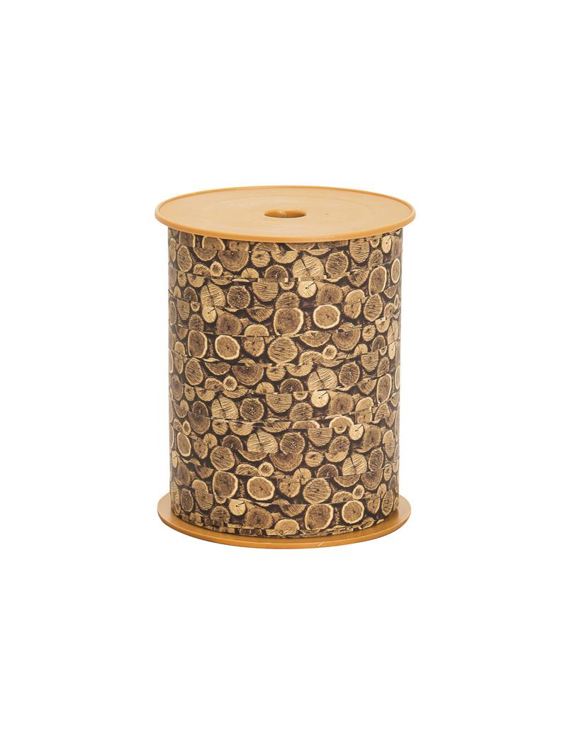 Nastro Bifacciale per Regali Woodly Bolis - 10 mm x 200 m - 51281022060 (Tronchi)