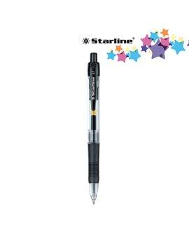 Penna Gel a Scatto Starline - 0,7 mm (Nero Conf. 12)