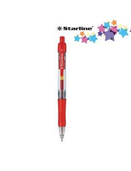 Penna Gel a Scatto Starline - 0,7 mm (Rosso Conf. 12)
