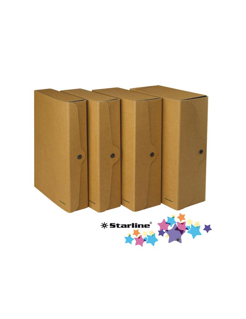 Cartella Portaprogetti con Bottone Starline - Dorso 10 - 25x35 cm - FMCXCPECO10AV (Avana Conf. 5)