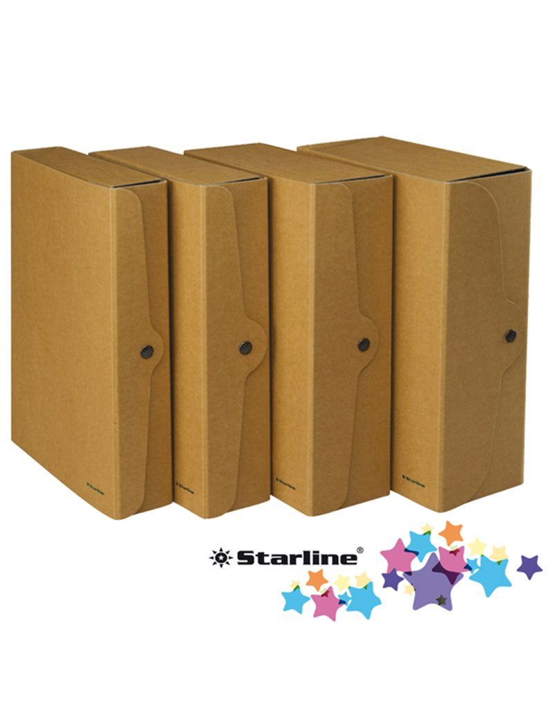 Cartella Portaprogetti con Bottone Starline - Dorso 4 - 25x35 cm - FMCXCPECO04AV (Avana Conf. 5)