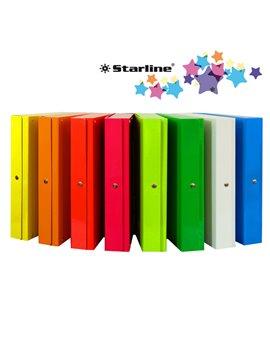 Scatola Portaprogetti Glossy con Bottone Starline - Dorso 8 - 25x35 cm - OD1908LDXXXAC04 (Giallo Conf. 5)