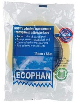 Nastro Adesivo Ecophan Eurocel - 15 mm x 66 m - 001417158 (Trasparente Conf. 10)
