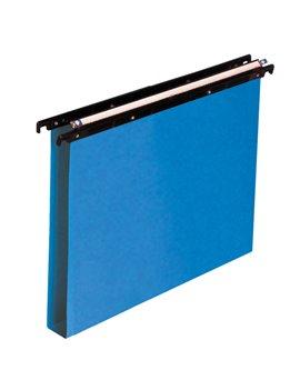 Cartelle Sospese in Polipropilene Cartesio Bertesi - Cassetto - Interasse 39÷39,8 cm - U - 500/395 3-A3 (Blu Conf. 25)