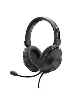 Cuffie con Microfono HS-250 Trust - 24185 (Nero)