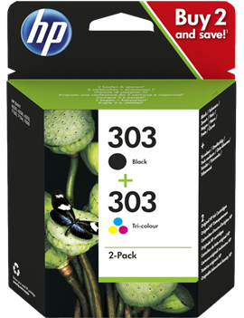 Multipack Cartucce Originali HP 3YM92AE 303 (Nero e Colori Conf. 2)