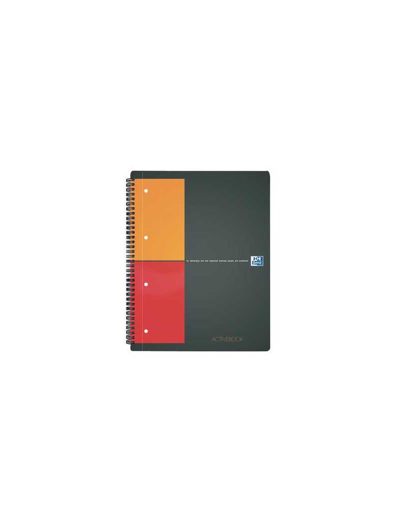Blocco Spiralato Activebook International Oxford - A4+ - 80 Fogli - 5 mm con Margini - 100104329 (Grigio)
