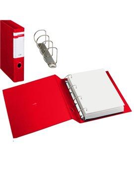 Raccoglitore Stelvio Sei Rota - A4 - 4 Anelli a D Ø40 mm - Dorso 5 cm - 37404412 (Rosso)