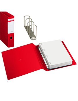Raccoglitore Stelvio Sei Rota - A4 - 4 Anelli a Q Ø65 mm - Dorso 9 cm - 37654412 (Rosso)