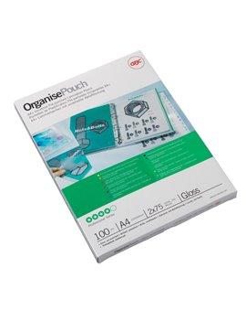 Pouches per Plastificatrici GBC - A4 Lucida - 75 micron - 3740400 (Trasparente Conf. 100)